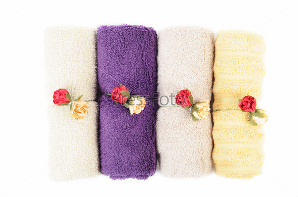 Фотография на тему Цветные полотенца