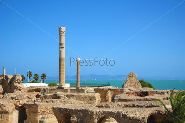 Руины Карфагена. Термии Антония. Тунис