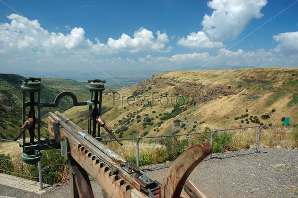 Модель арбалета в израильском национальном парке «Крепость Гамла» на Голанских высотах