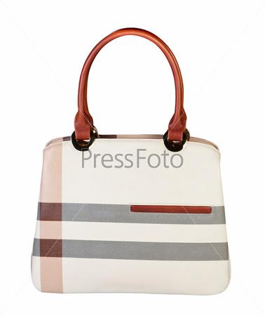 Женская сумка на белом фоне