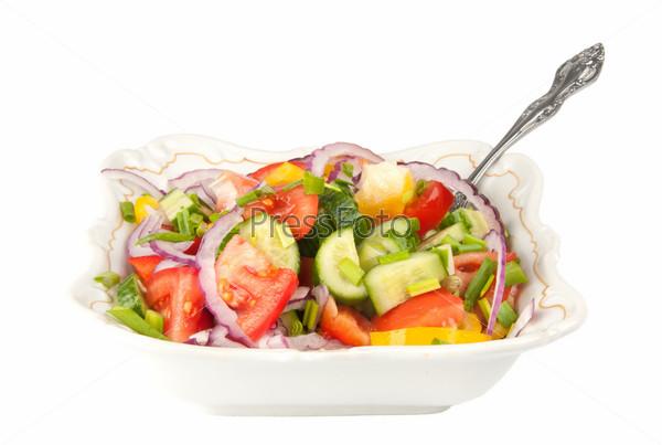 Фотография на тему Летний салат из свежих овощей
