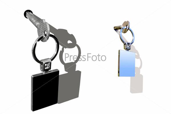 Фотография на тему Ключи на белом фоне