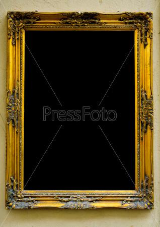 Фотография на тему Винтажная золотая рамка