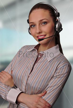 Сотрудница call-центра