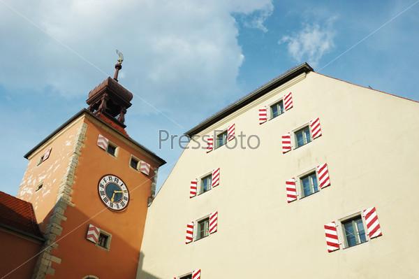 Старая ратуша города Регенсбург, Германия, Бавария