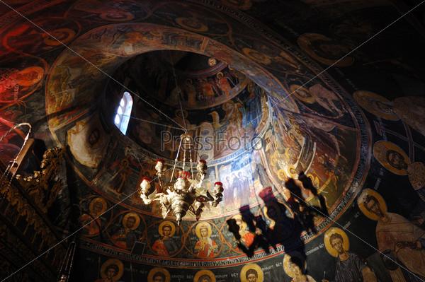 Фрески в скальном монастыре Святой Троицы (Агиа Триада), Метеоры, Греция