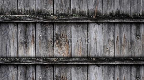 Фотография на тему Фрагмент старого деревянного забора