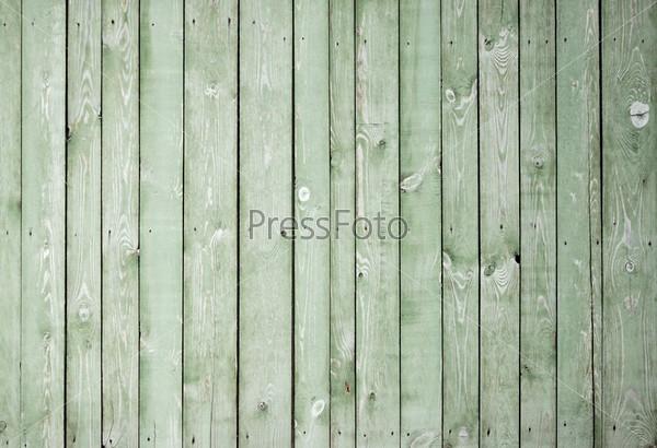 Фрагмент зеленой старой дощатой поверхности