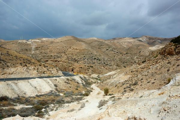 Панорама пустыни Арава, Израиль