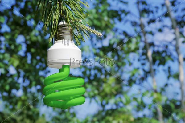 Фотография на тему Экологическая концепция, символизирующая возобновляемые источники энергии, биоэнергии