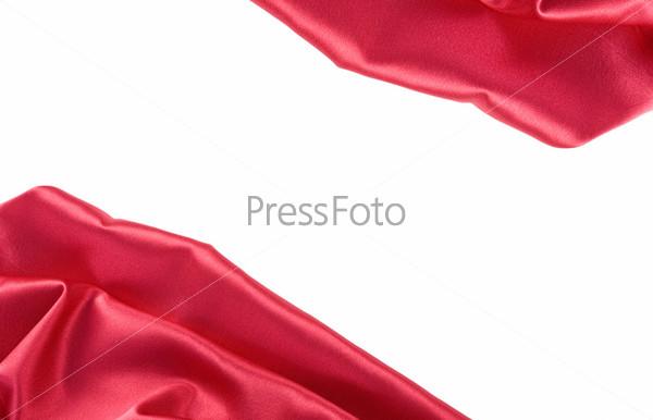 Гладкий элегантный красный шелк в качестве фона