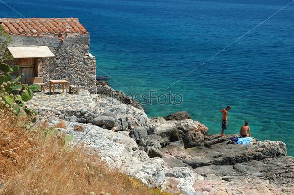 Пляж в Монемвазии, Греция