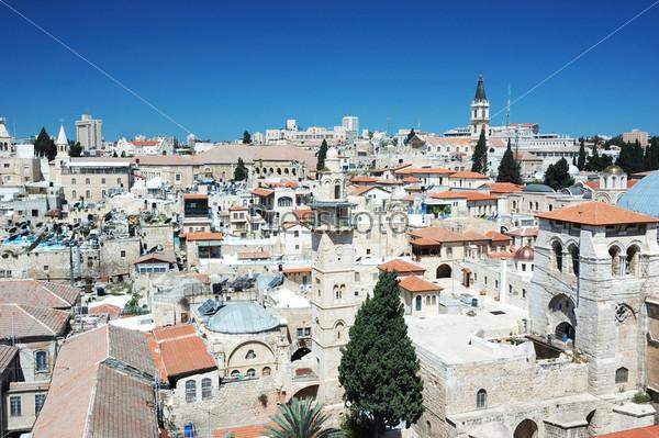 Фотография на тему Вид на старый Иерусалим с колокольни лютеранской церкви Искупителя, Израиль