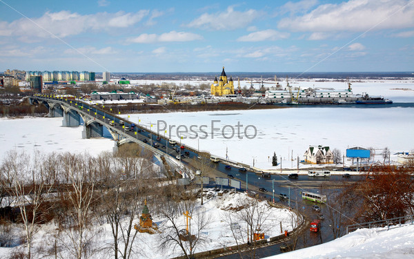 Фотография на тему Вид на стрелку в апреле, Нижний Новгород , Россия