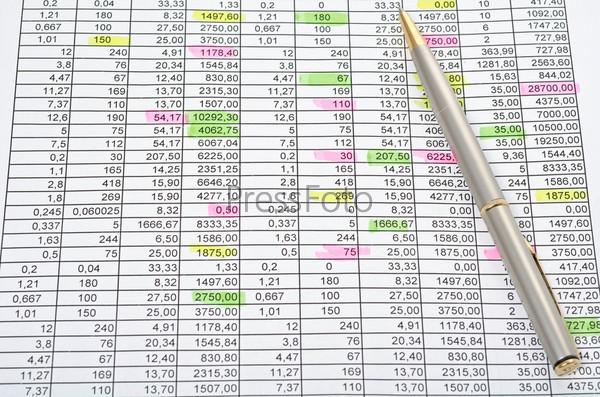 Ряды чисел с цифрами, выделенными маркером