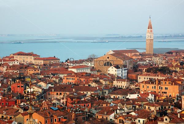 Фотография на тему Вид на Венецию с Кампанилы Святого Марка, Италия