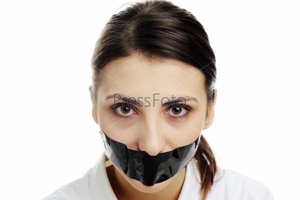 Девушки с заклеенным ртом, имеет мужчину порно