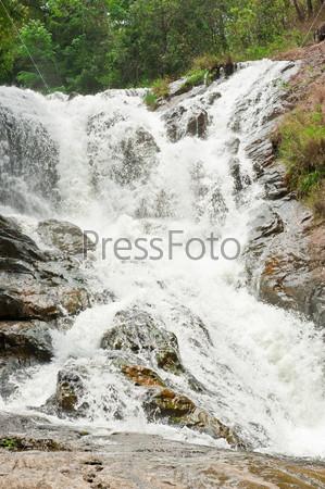Beautiful waterfall in mountains of Dalat, Vietnam