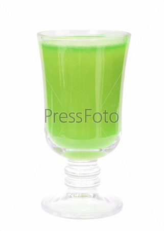 Glass with fresh green-apple juice