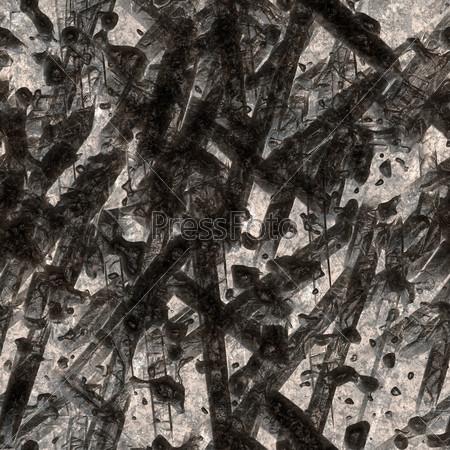 Chipped fiber