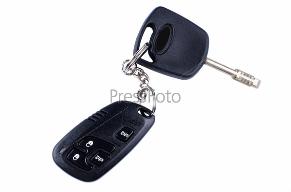 Remote car key isolated