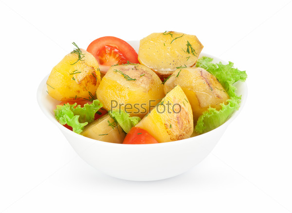 Roasted potatoes with vegetables