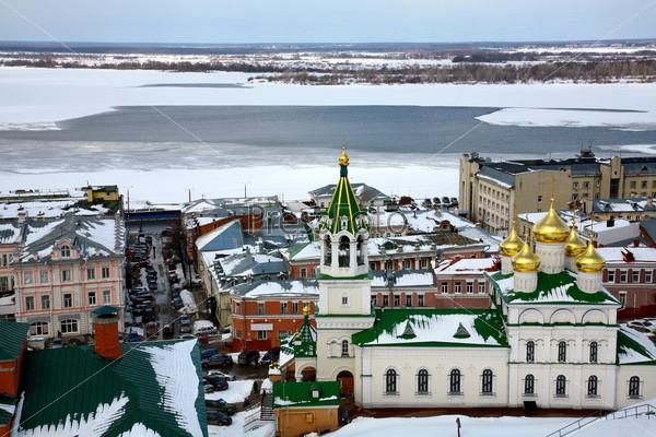 April view Church Nativity of John Precursor Nizhny Novgorod