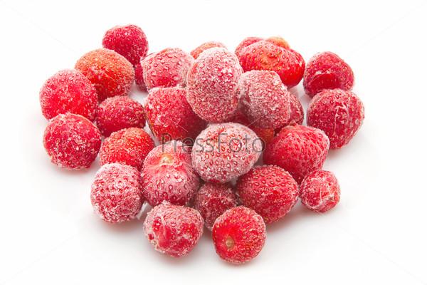 sweet, luscious frozen strawberries