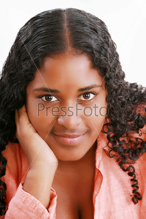 African american teenage girl close up