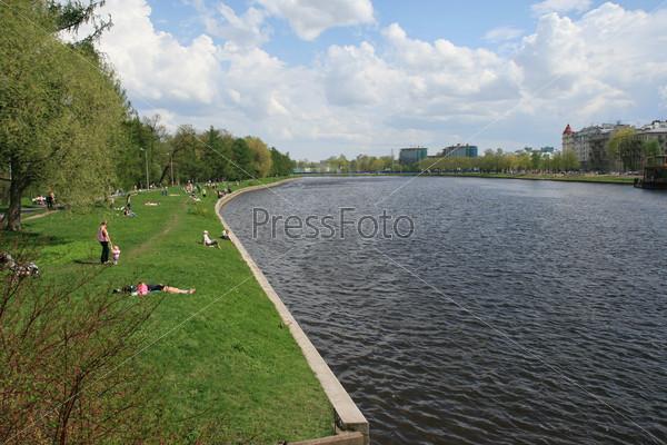 В Центральном парке Санкт-Петербурга