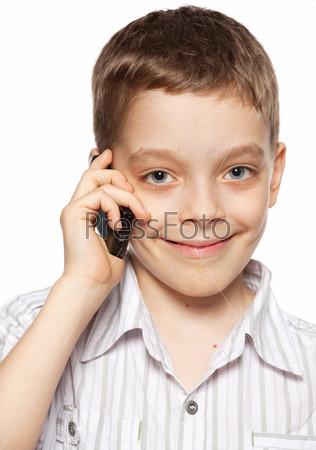 Boy, talking on the phone