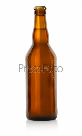 Beer in a brown bottle