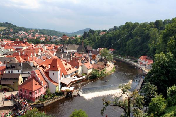 Scenic view of Czech Krumlov