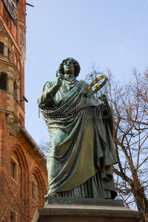 monument of great astronomer Nicolaus Copernicus