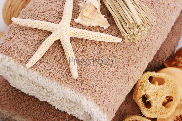 Towels and starfish