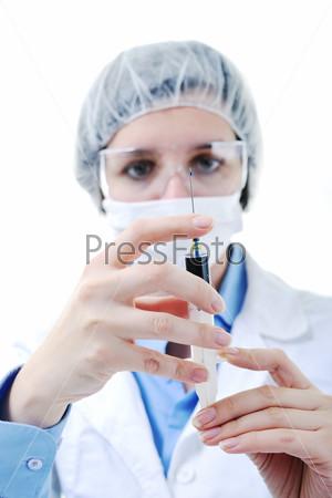 Портрет женщины-врача