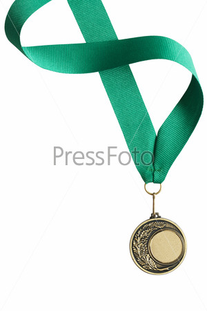 Medal On White