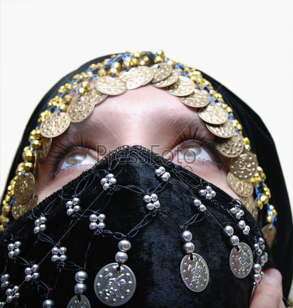 Exotic female dressed in black