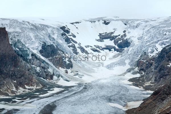 Alpine summer glacier view