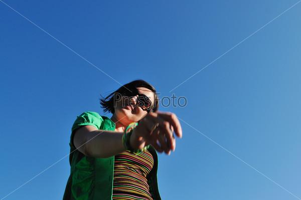woman fashion jump