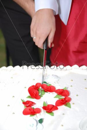 wedding pie slicing