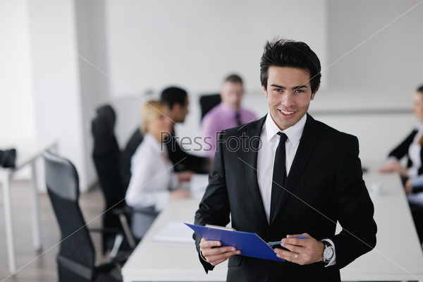 young business man at meeting