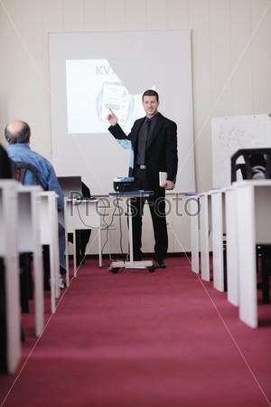 business man on seminar
