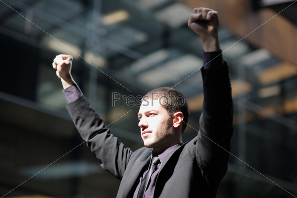 business man freedom