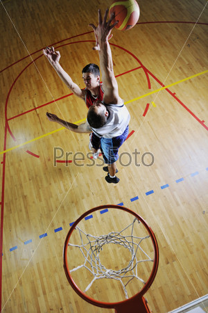 playing basketball game