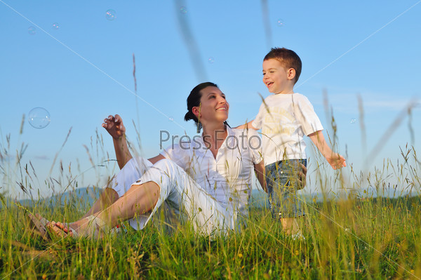 woman child outdoor