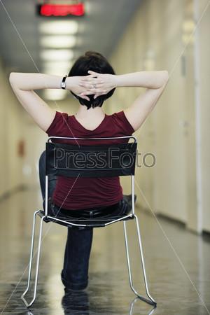 woman relax indoor