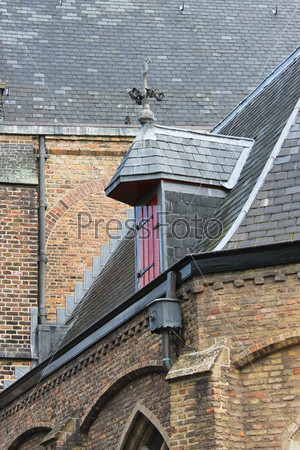 The roof of the old church. Delft. Netherlands