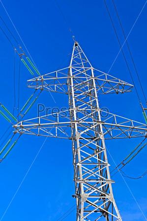 Опора линии электропередачи высокого напряжения