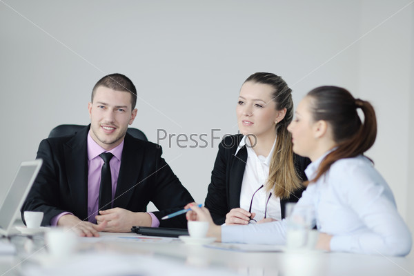 business people group on meeting